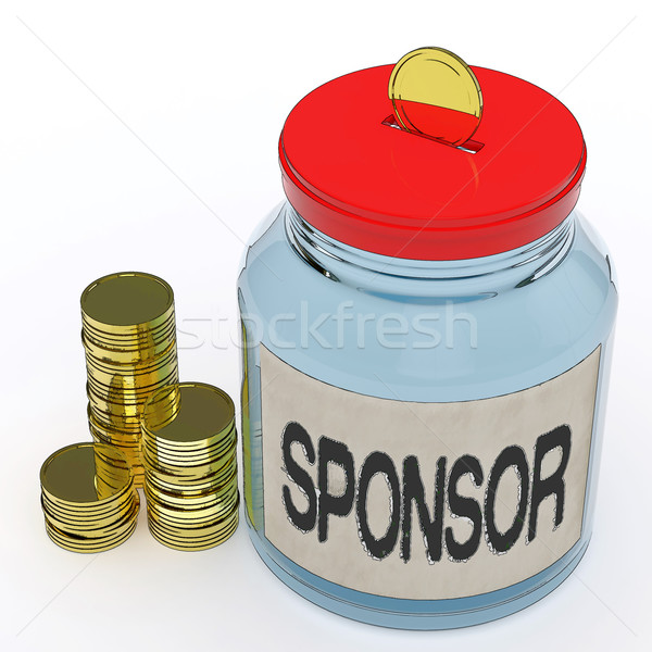 Sponsor Jar Means Donating Helping Or Aid Stock photo © stuartmiles