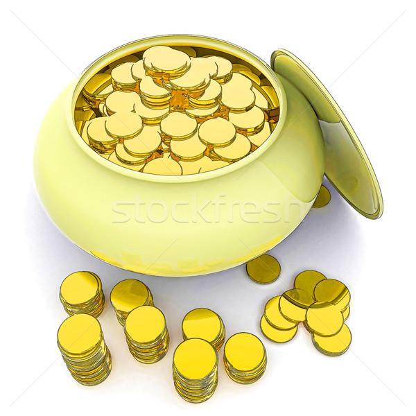 Stock fotó: Edény · arany · pénz · szerencsés · jelentés