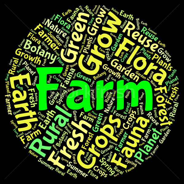Farm Word Shows Farming Cultivate And Farmed Stock photo © stuartmiles