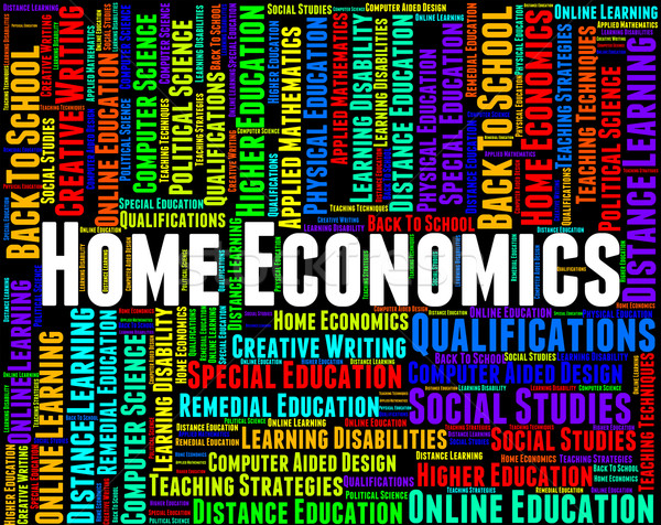 Home Economics Means Studying Educating And Learning Stock photo © stuartmiles