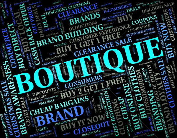 Boutique Word Means Commercial Activity And Apparel Stock photo © stuartmiles