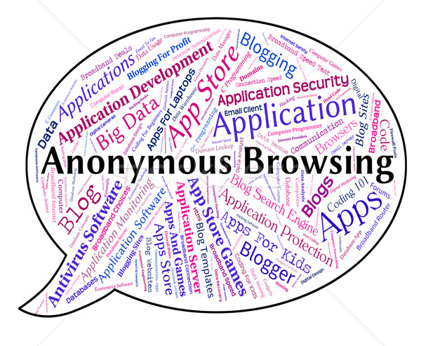 Anonymous Browsing Indicates Word Mystery And Unnamed Stock photo © stuartmiles