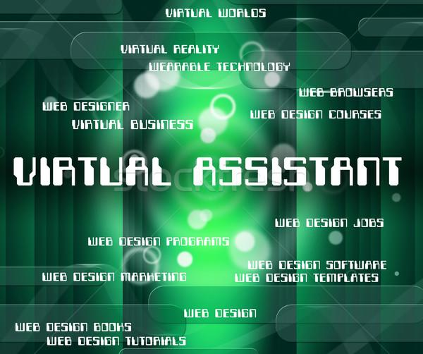 Virtual assistente fora contrato Foto stock © stuartmiles