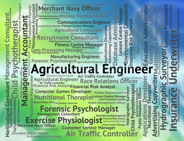 Agricultural Engineer Shows Career Farming And Hiring Stock photo © stuartmiles