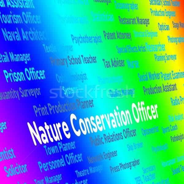 природы сохранение офицер зеленый Сток-фото © stuartmiles