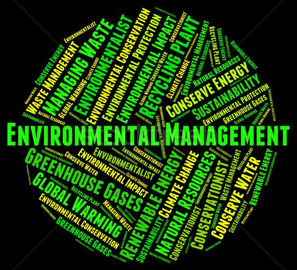 Milieu beheer administratie betekenis uitvoerende Stockfoto © stuartmiles