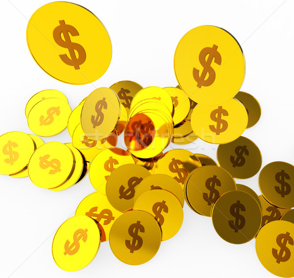 Dollar Coins Shows United States And Banking Stock photo © stuartmiles