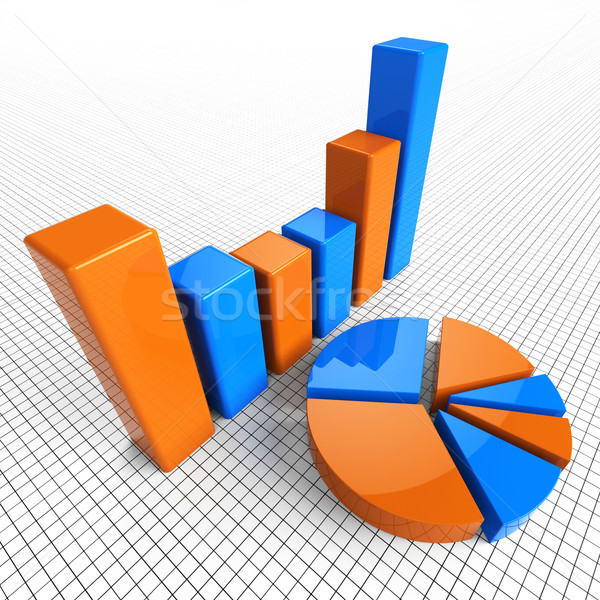 Graph Report Indicates Business Statistic And Diagram Stock photo © stuartmiles