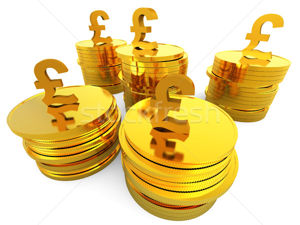 Pound Cash Represents Saved Revenue And Finance Stock photo © stuartmiles