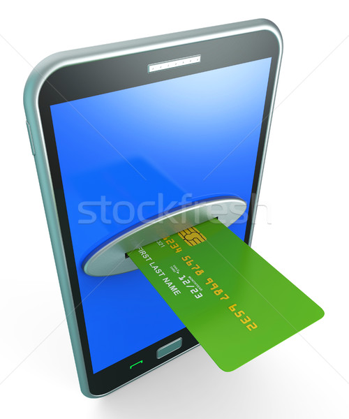 Credit Card Online Shows Retail Sales And Web Stock photo © stuartmiles
