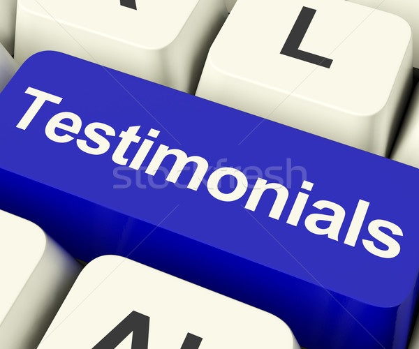 Testimonials Computer Key Showing Recommendations And Tributes O Stock photo © stuartmiles