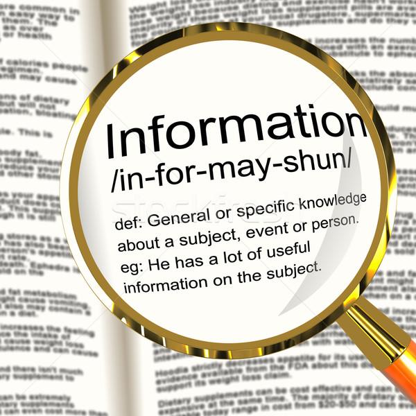 情報 定義 知識 データ ストックフォト © stuartmiles