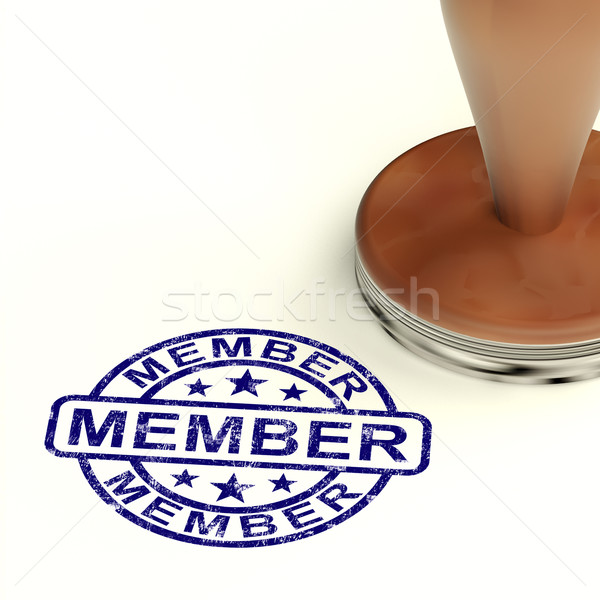 Member Stamp Showing Membership Registration And Subscribing Stock photo © stuartmiles