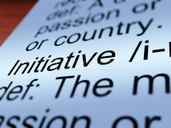 Initiative Definition Closeup Showing Resourcefulness Stock photo © stuartmiles