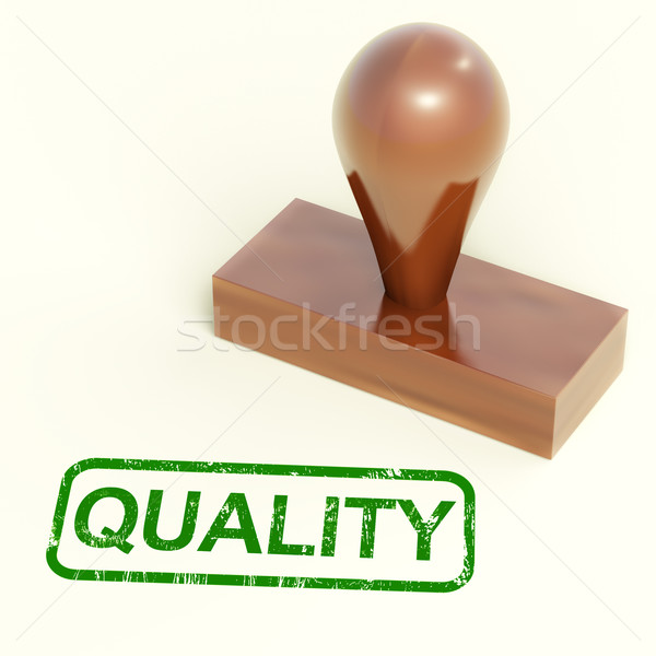 Quality Stamp Showing Excellent Products Stock photo © stuartmiles