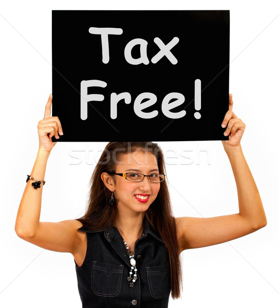 Tax Free Sign Board Shows No Duty Shopping Stock photo © stuartmiles