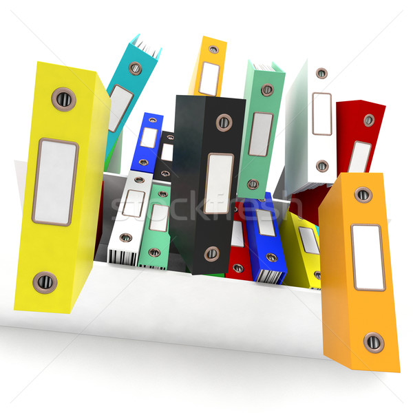 Files Falling Shows Disorganized And Chaotic Office Stock photo © stuartmiles