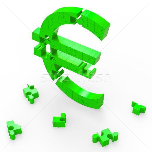 Stock foto: Euro · Zeichen · Banking · Einsparungen · Sicherheit