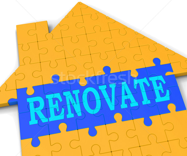 Renovate House Shows Improve And Construct Stock photo © stuartmiles