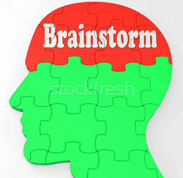 Brainstorm Shows Mind Thinking Clever Ideas Stock photo © stuartmiles