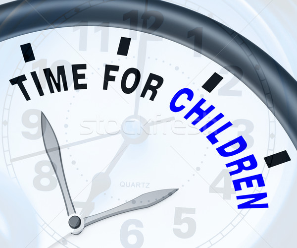 Time For Children Message Means Playtime Or Getting Pregnant Stock photo © stuartmiles