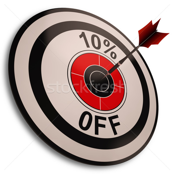 10 Percent Off Shows Reduction In Price Stock photo © stuartmiles