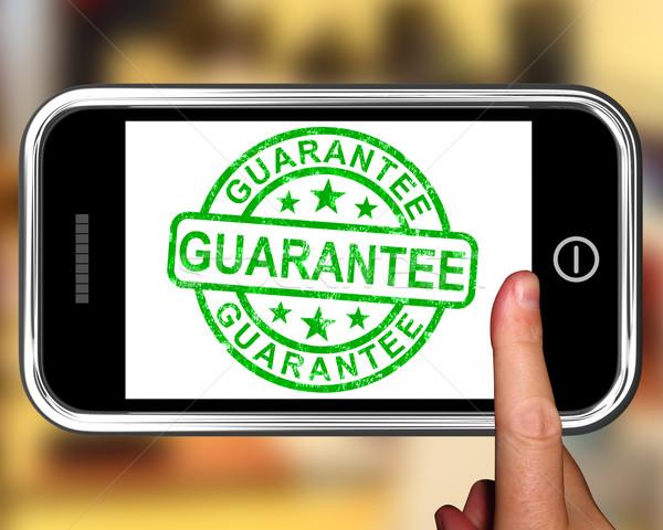 Guarantee On Smartphone Showing Satisfaction Guarantee Stock photo © stuartmiles