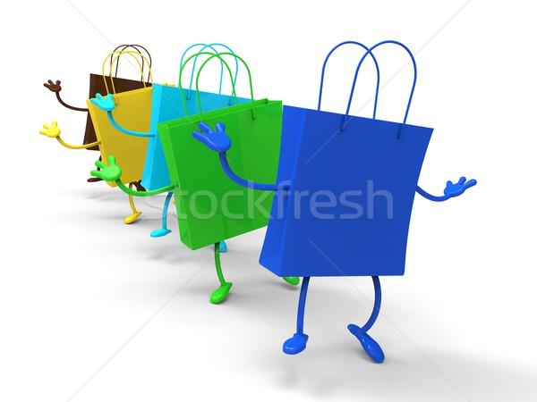 Dansen detailhandel winkelen winkel zak Stockfoto © stuartmiles
