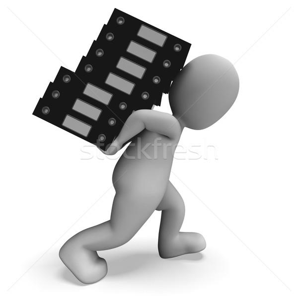 Szervez akták mutat szervezett lemezek papírmunka Stock fotó © stuartmiles
