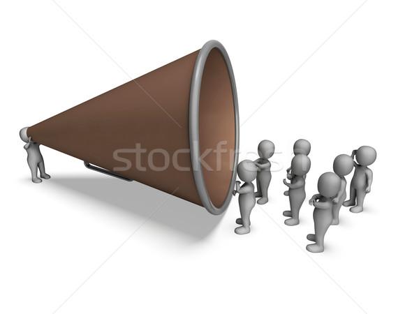 Megafon karakter közlemény hangfal magyaráz mutat Stock fotó © stuartmiles