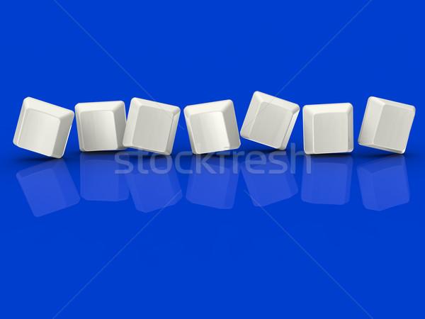 Sette piastrelle show lettera parola Foto d'archivio © stuartmiles