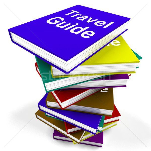Travel Guide Book Stack Shows Information About Travels Stock photo © stuartmiles