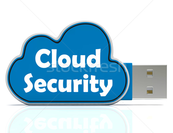 Cloud Security Memory Stick Shows Account And Login Stock photo © stuartmiles