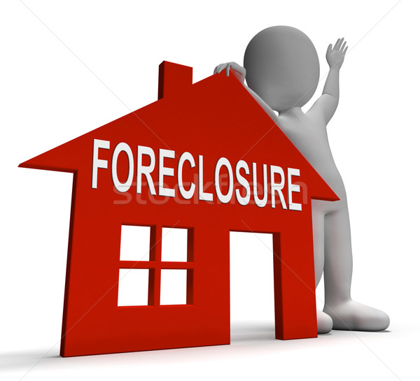 Foreclosure House Shows Repossession And Sale By Lender Stock photo © stuartmiles