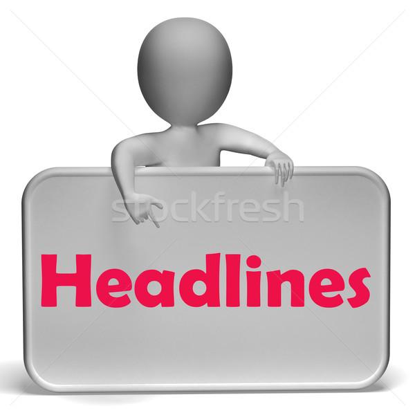 Főcímek felirat média hírek jelentés Stock fotó © stuartmiles