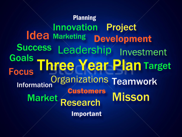 Three Year Plan Brainstorm Shows Future Business Program Stock photo © stuartmiles
