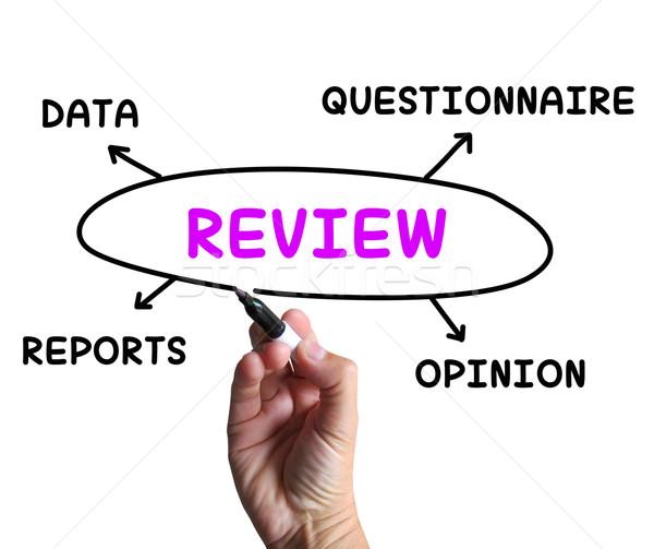 Review Diagram Means Examine Evaluate And Survey Stock photo © stuartmiles