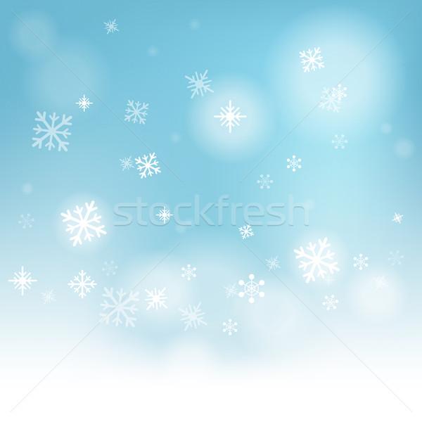 снега зимний сезон заморожены воды Сток-фото © stuartmiles