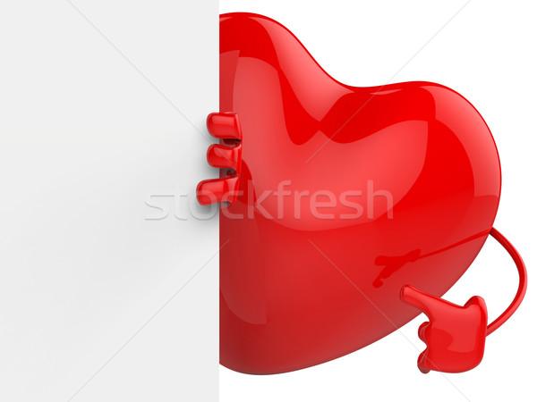 Kalp arkasında kâğıt düğün davetiyesi sevmek mektup Stok fotoğraf © stuartmiles