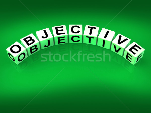 Objective Blocks Mean Goals Targets and Objectives Stock photo © stuartmiles