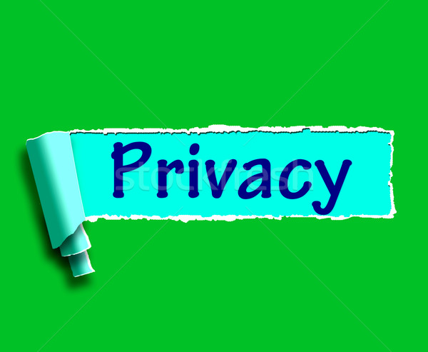 Privacy Word Shows Protection Of Confidential Information Stock photo © stuartmiles