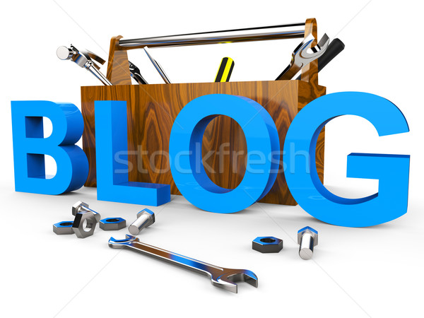 Blog tools world wide web blogger website netwerk Stockfoto © stuartmiles