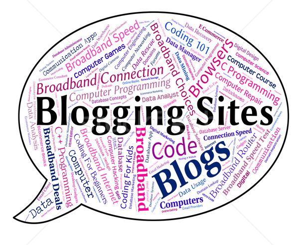 Blogging site mot internet Photo stock © stuartmiles