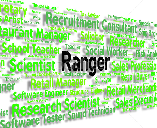 Ranger Job Represents Policewoman Word And Position Stock photo © stuartmiles