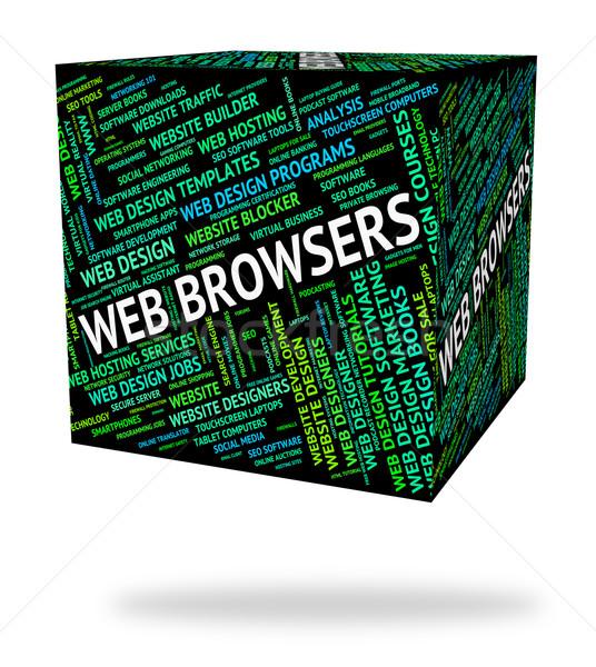Teia texto site www com palavras Foto stock © stuartmiles