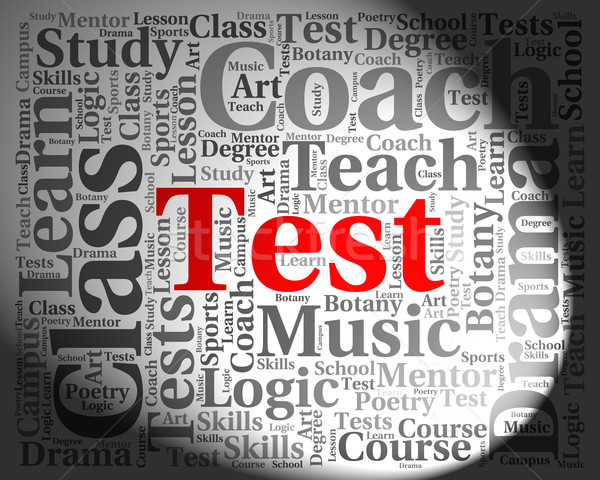Test Word Shows Exams Assessment And Assess Stock photo © stuartmiles