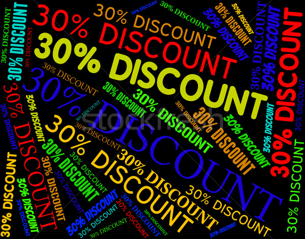 Thirty Percent Discount Shows Savings Bargain and Cheap Stock photo © stuartmiles