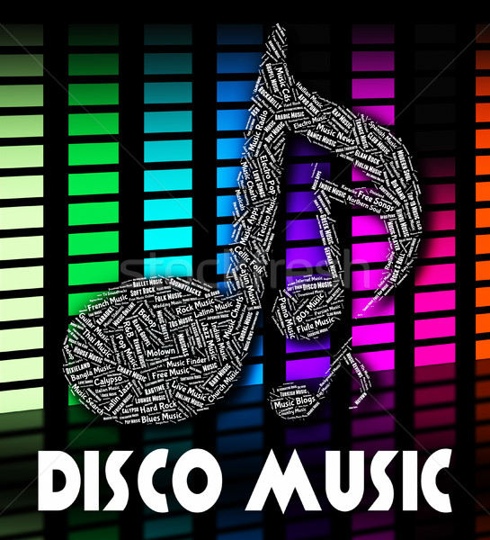 Disco Music Indicates Sound Track And Acoustic Stock photo © stuartmiles