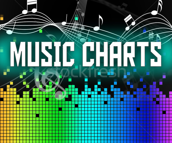 Chart Music Represents Sound Track And Charts Stock photo © stuartmiles
