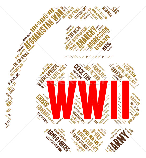 World War Ii Represents Military Action And Battles Stock photo © stuartmiles